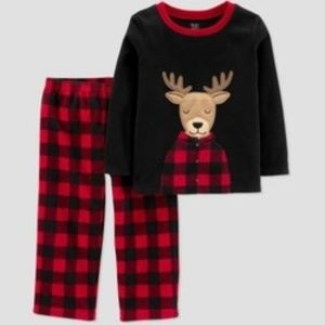 Toddler Boys' Reindeer 2pc Pajama Set 4T